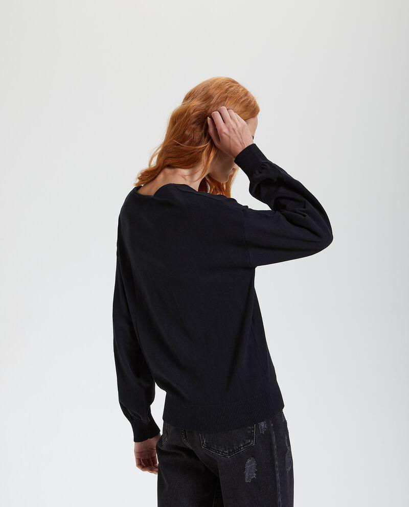 Maglione con maniche a sbuffo donna