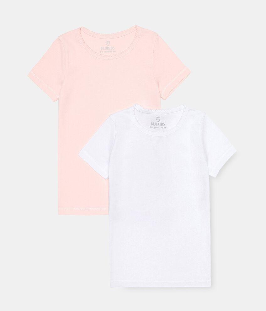 Pack con 2 t-shirt di cotone organico bambina double 1