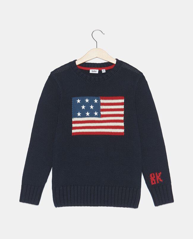 Maglioncino con bandiera americana bambino
