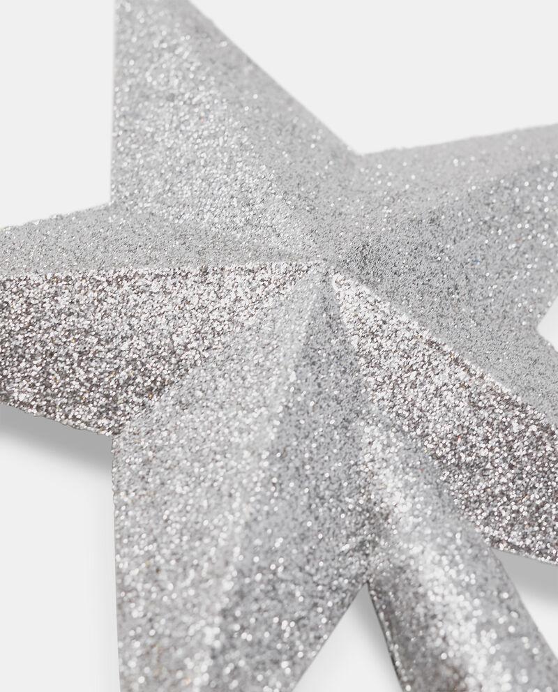Puntale a forma di stella glitterato