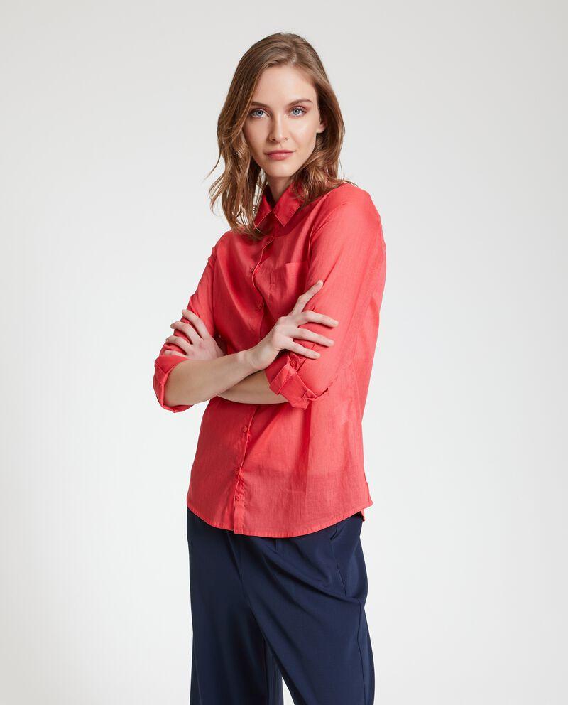 Camicia puro cotone trasparente donna cover