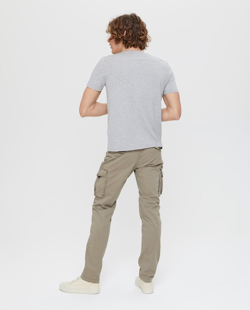 T-shirt mélange con scollo rotondo