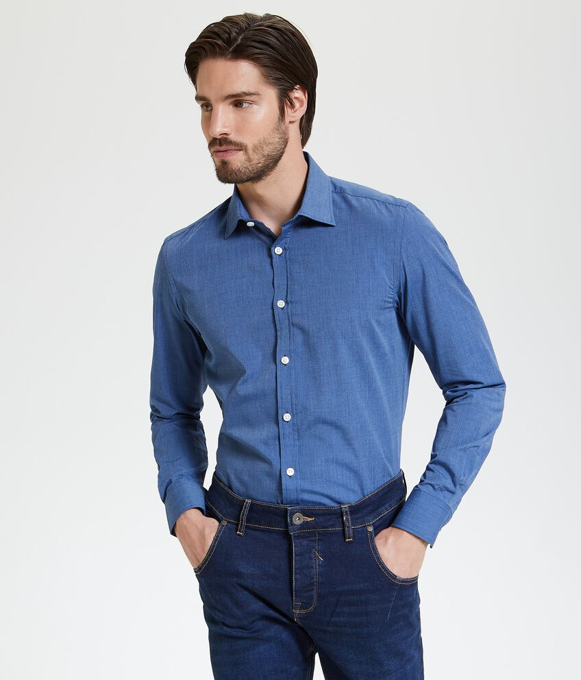 Camicia tinta unita slim fit uomo