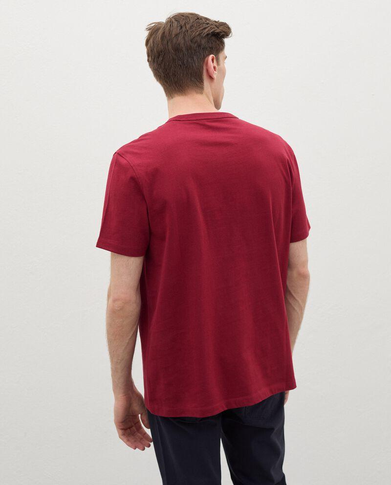 T-shirt in puro cotone con lettering 3D uomo single tile 1