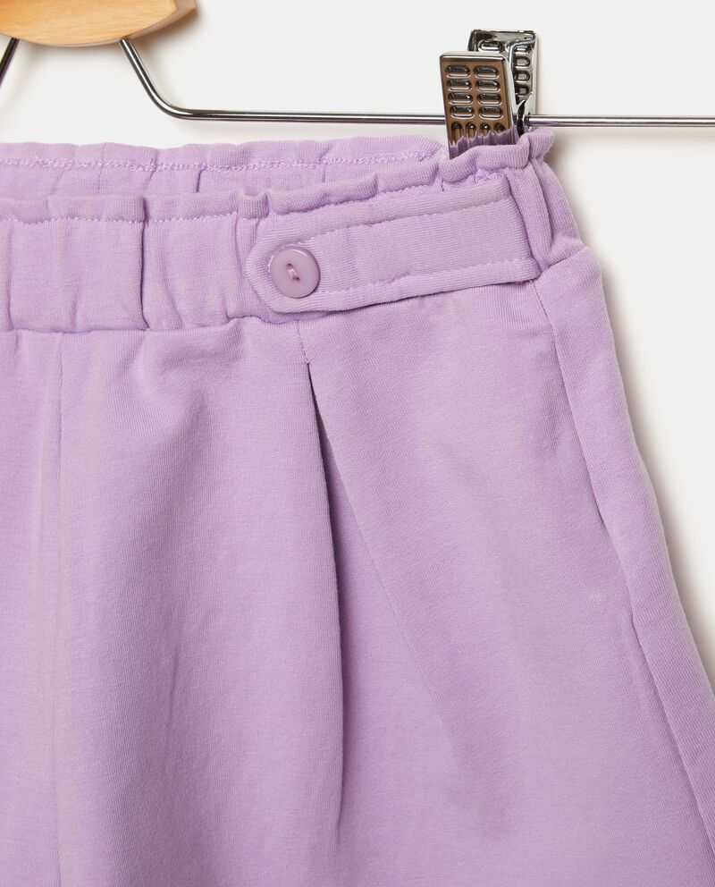 Shorts in tinta unita con bottoni bambina