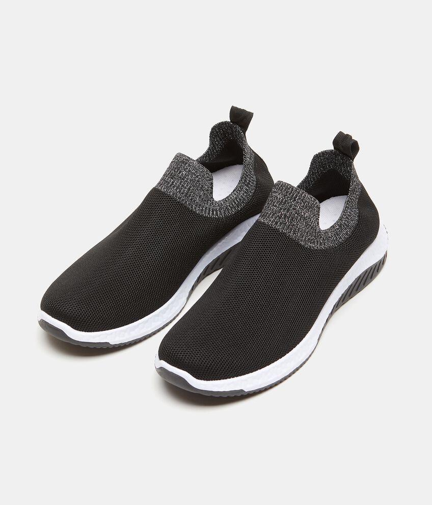 Sneakers con fascia a contrasto in maglia donna double 1