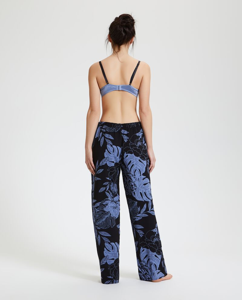 Pantaloni pigiama floreale donna