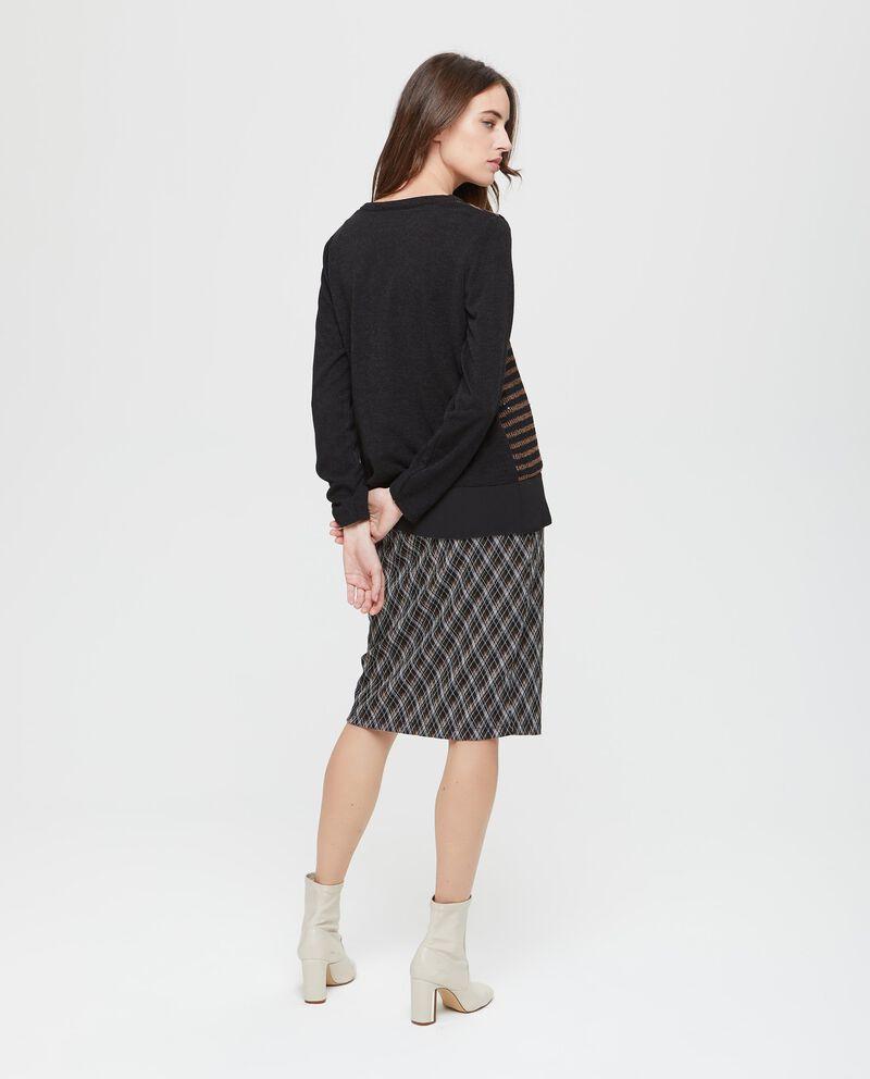 Pullover georgette stretch a righe