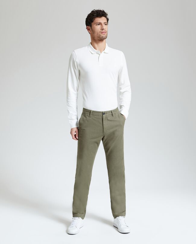 Pantaloni puro cotone uomo