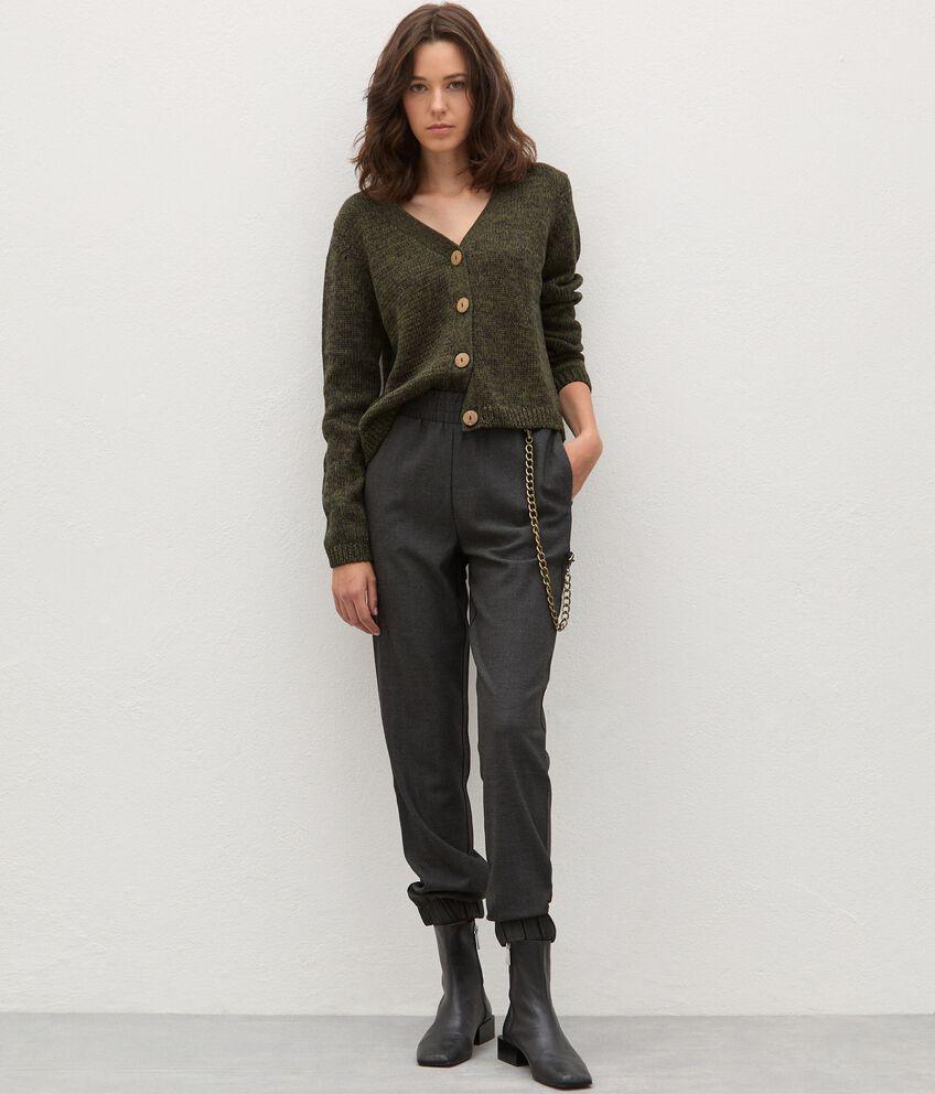 Pantaloni con catena donna double 1