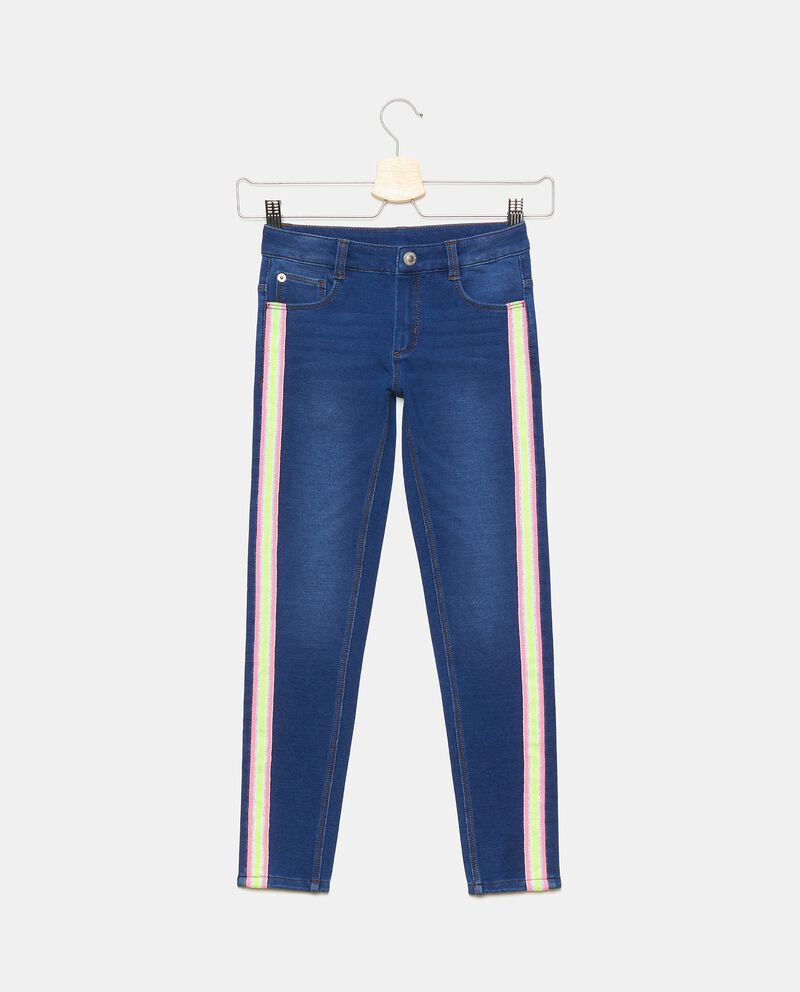 Jeans di cotone elasticato con bande bambinadouble bordered 0
