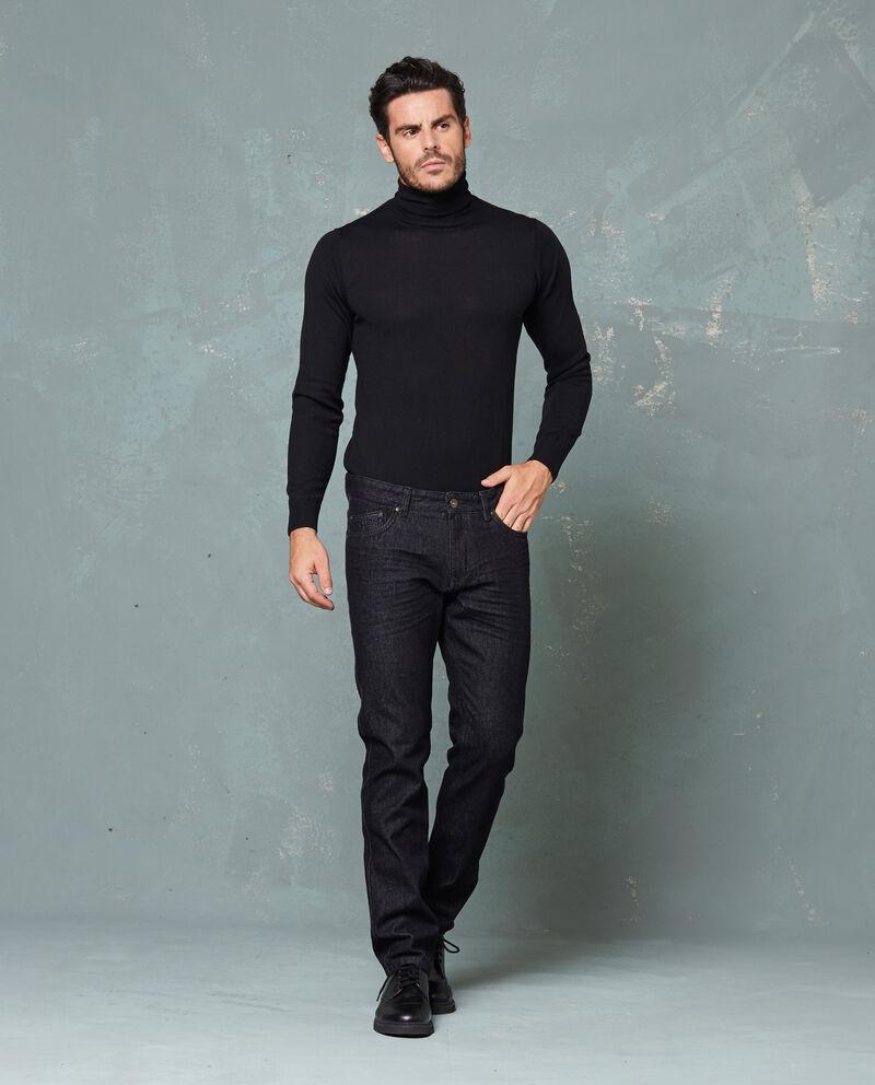 Jeans tinta unita cinque tasche