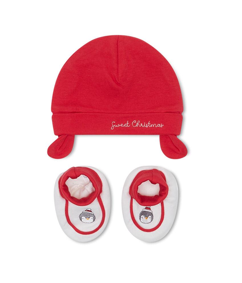 Completo cotone cappello e scarpine
