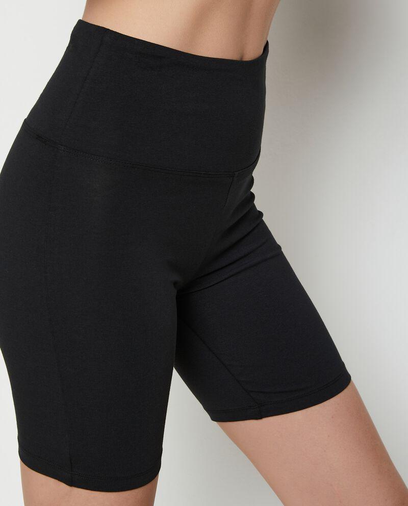 Pantaloncini ciclista Fitness in cotone stretch donna