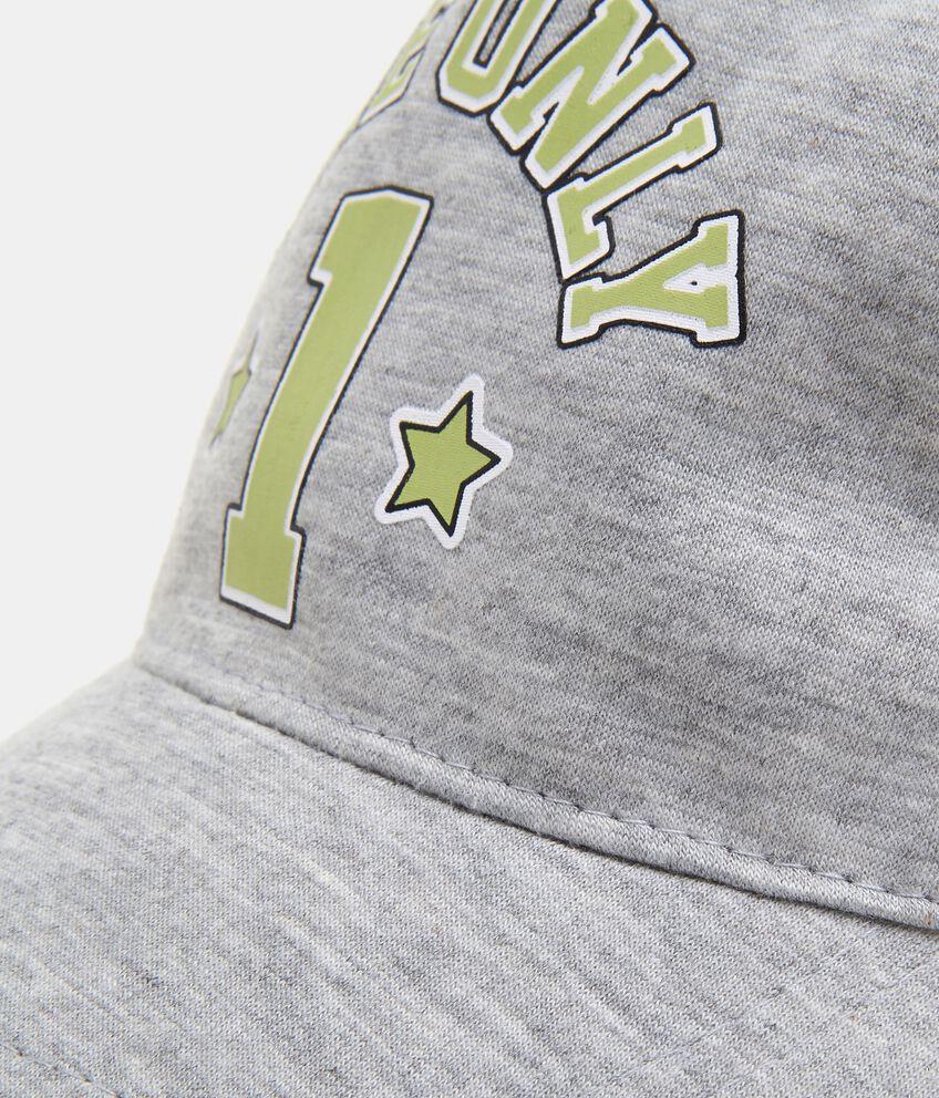 Cappellino con numero in puro cotone neonato