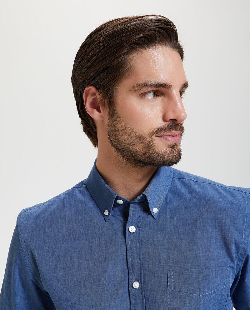 Camicia con taschino regular fit uomo