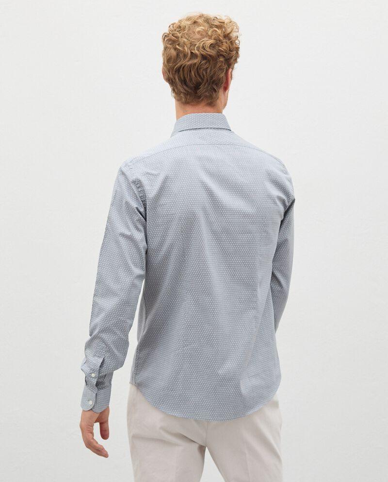 Camicia in fantasia di puro cotone uomo single tile 1