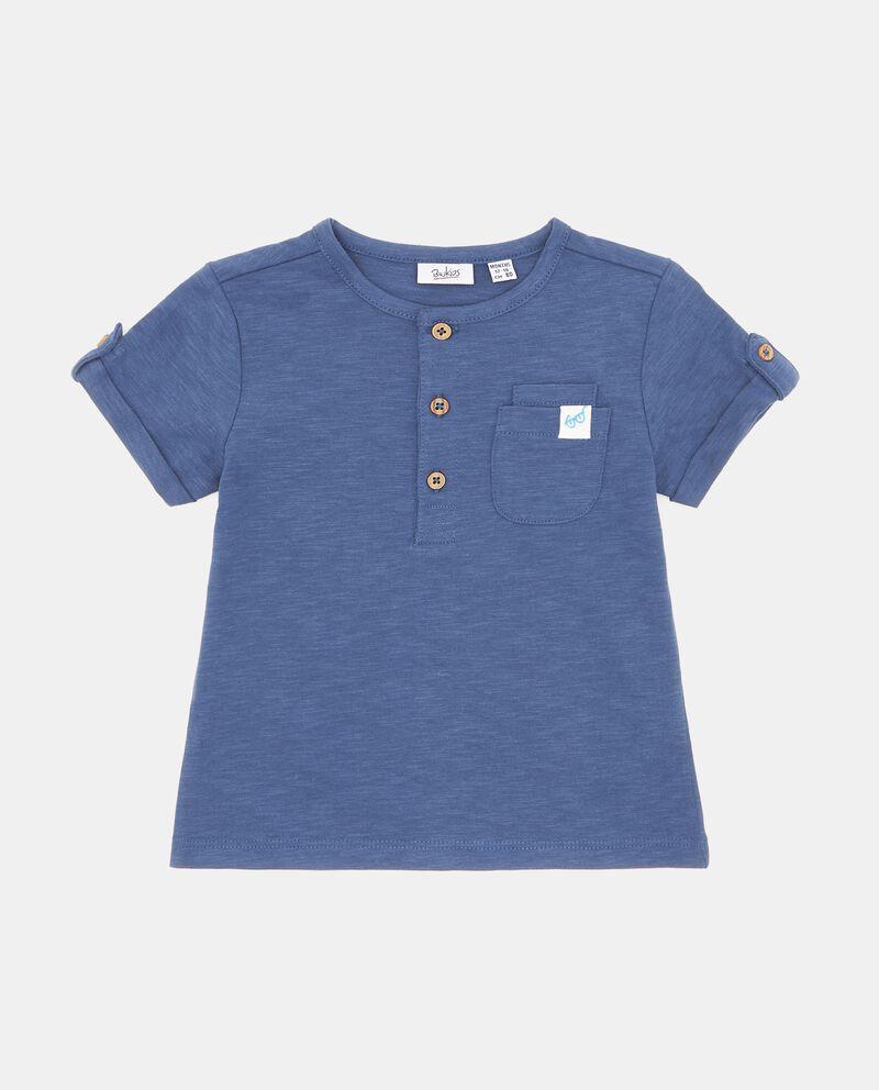 T-shirt mélange in puro cotone