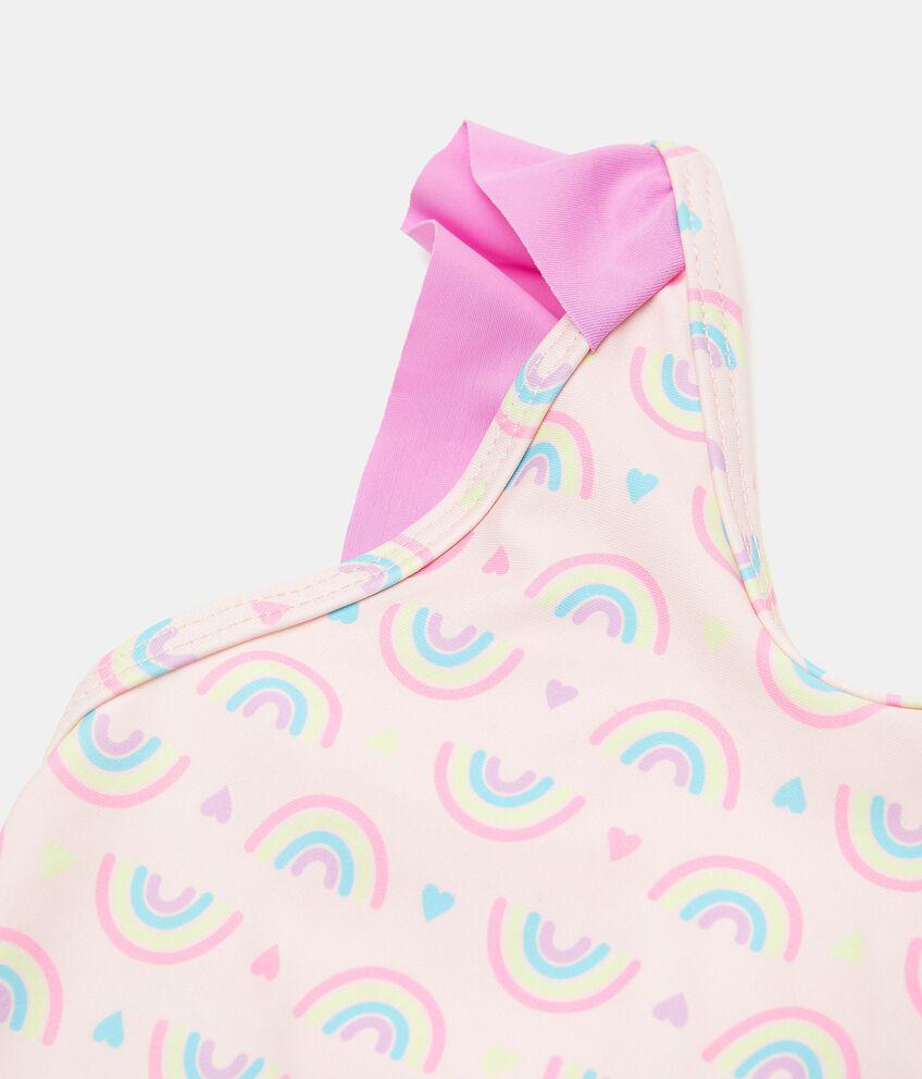 Costume intero con stampa arcobaleni neonata double 2