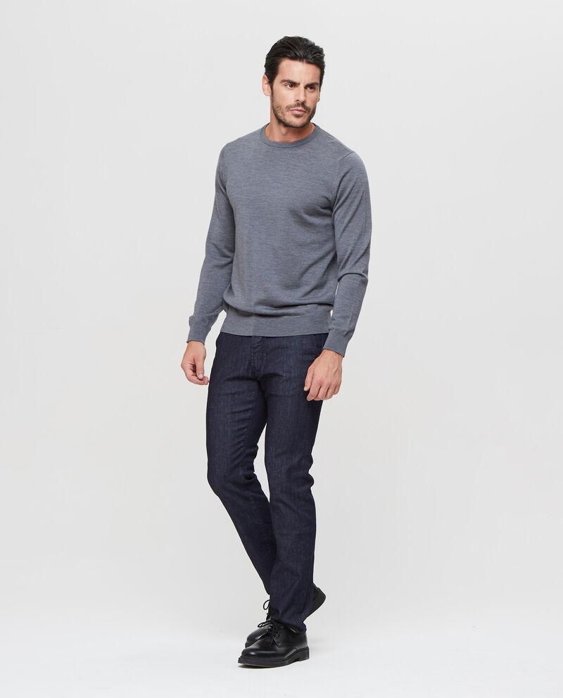 Pullover in lana merino tinta unita