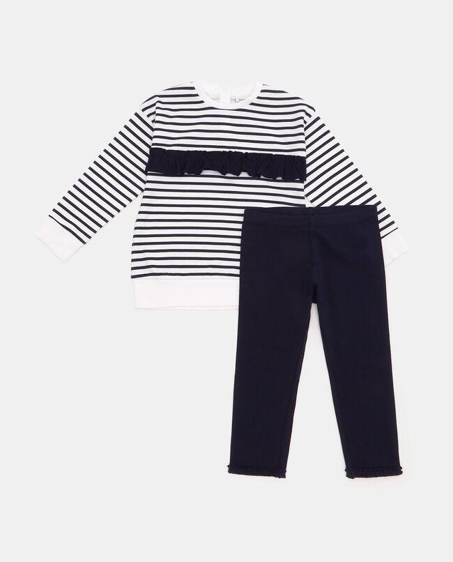 Set maglia e leggings in tinta unita