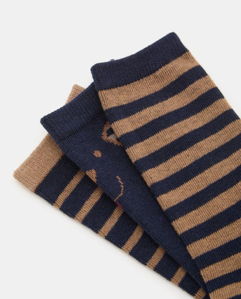 Pack con 3 paia di calze lunghe neonato single tile 1