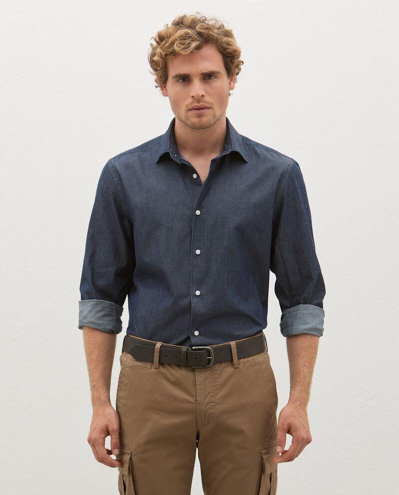 Camicia in jeans di puro cotone uomo cover