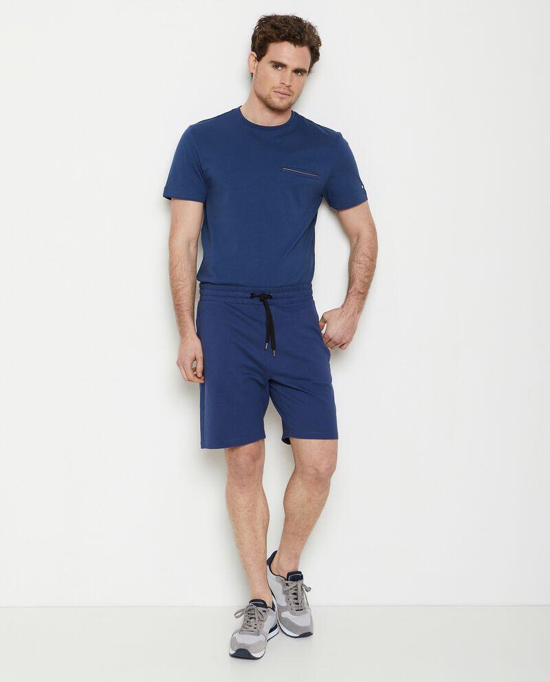 Pantaloncini joggers in puro cotone uomo cover