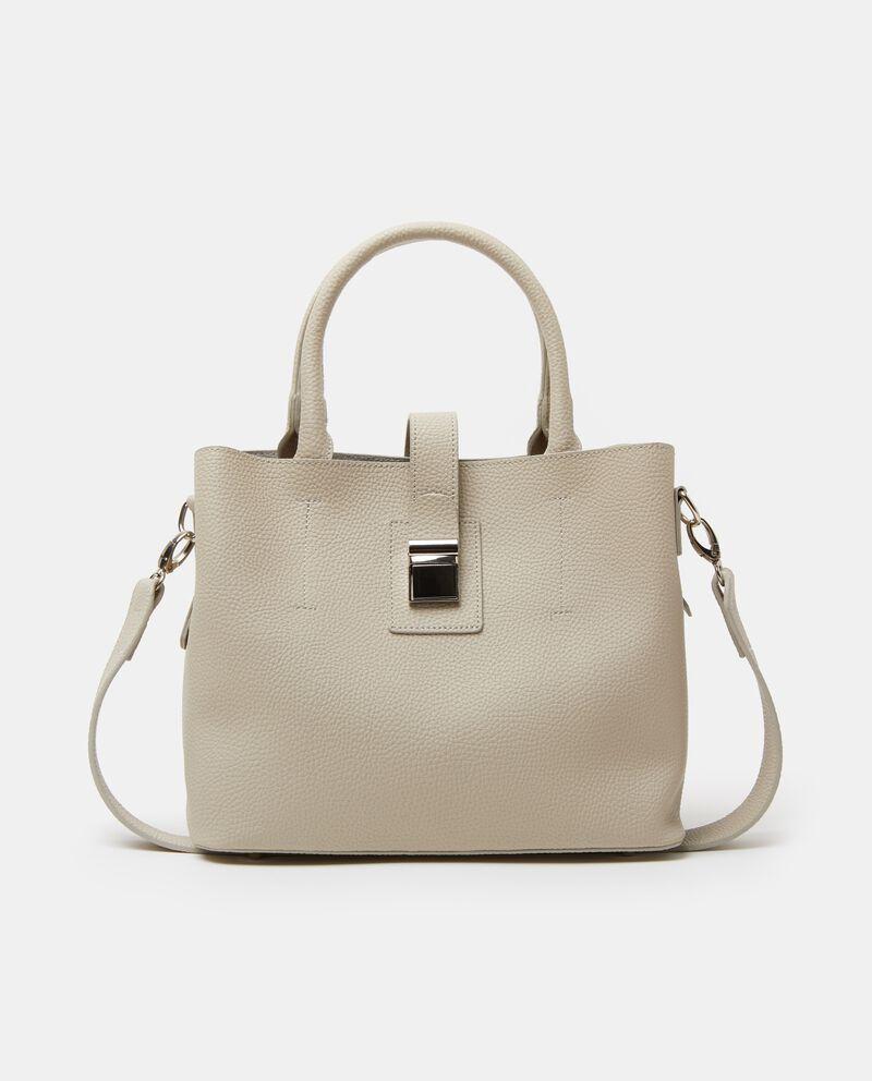Citybag in tinta unita con effetto similpelle donna