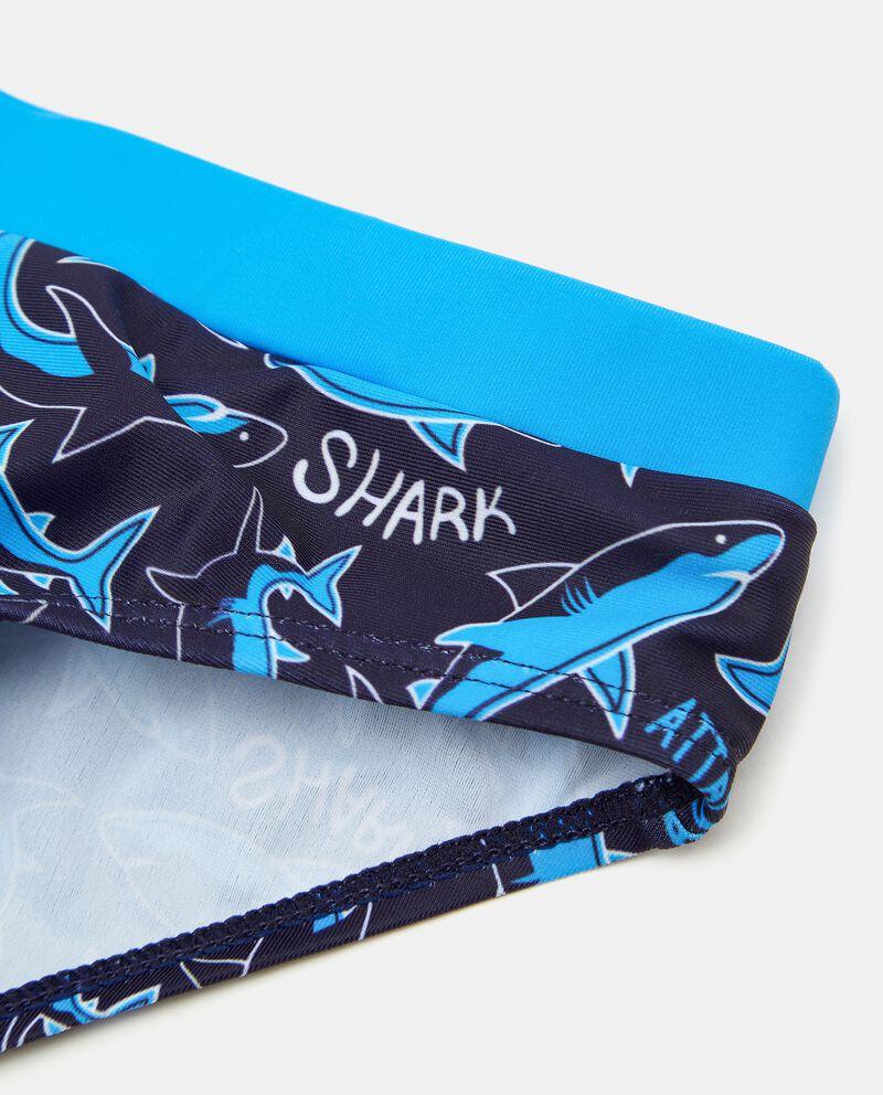 Costume slip con stampa squali bambino