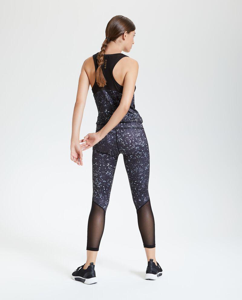 Leggings fitness fantasia inserti semitrasparenti