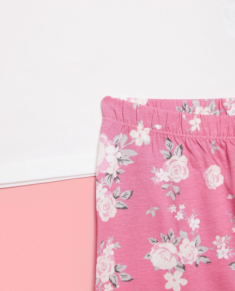 Set pigiama maglia e pantaloni di puro cotone biologico