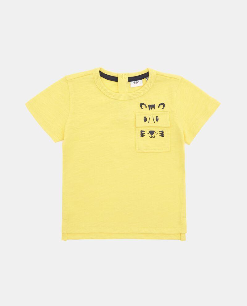 T-shirt in puro cotone con tasca neonato