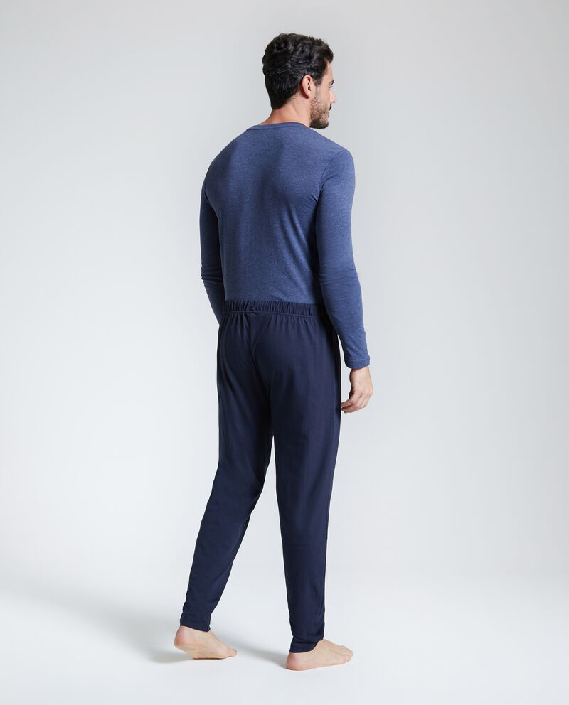 Pantaloni pigiama lunghi in puro cotone uomo