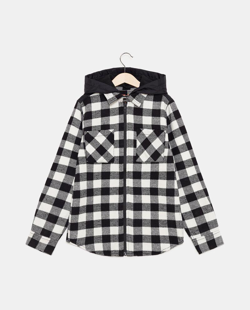 Camicia in flanella con cappuccio staccabile ragazzo cover