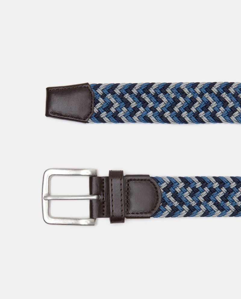 Cintura intrecciata con dettagli in similpelle uomo cover