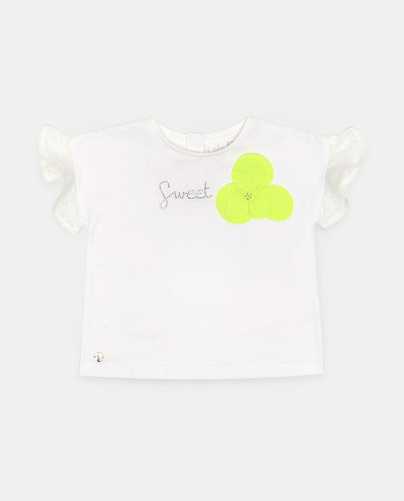 T-shirt in cotone elasticizzato con ruche neonata cover