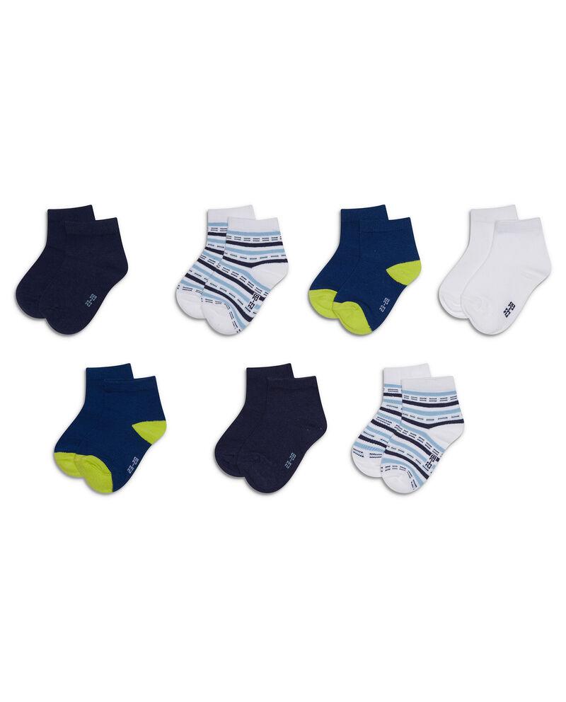 Set sette paia di calze corte a righe