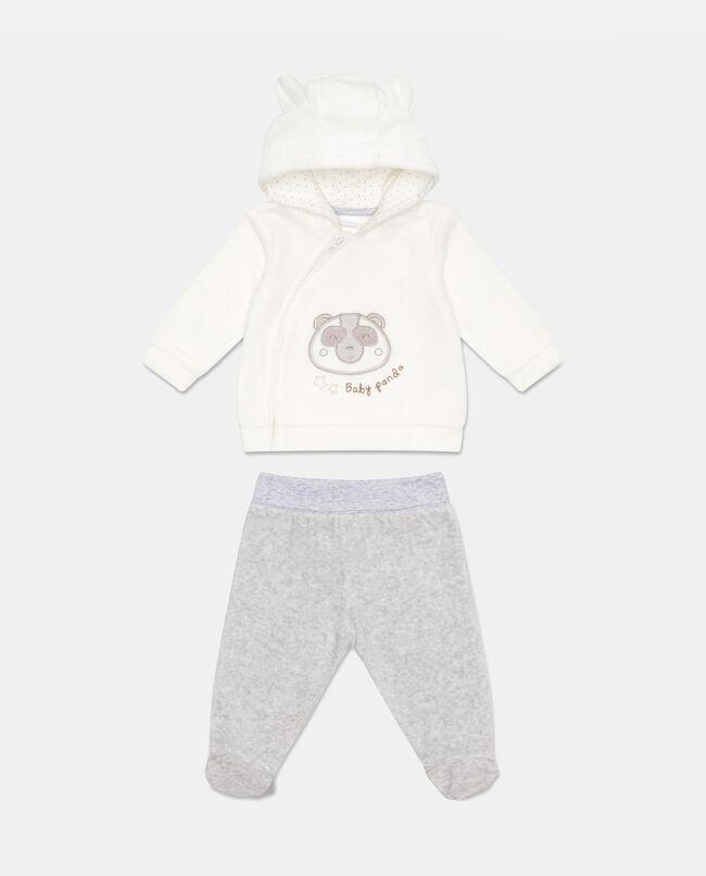 Tutina felpa e pantaloni panda
