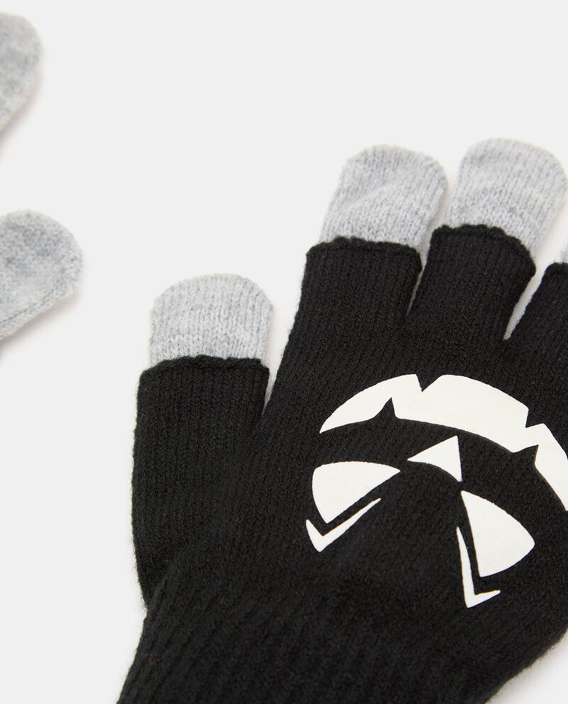 Doppi guanti in maglia con stampa fluorescente single tile 1