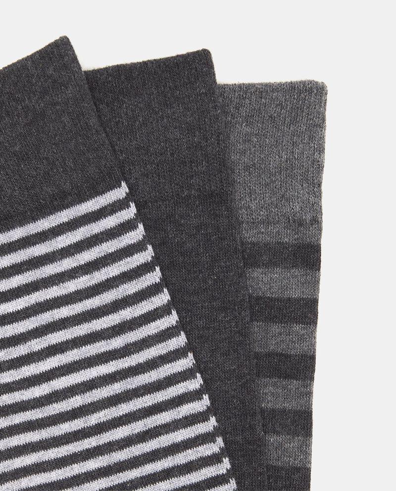 Set tre paia di calze lunghe stretch