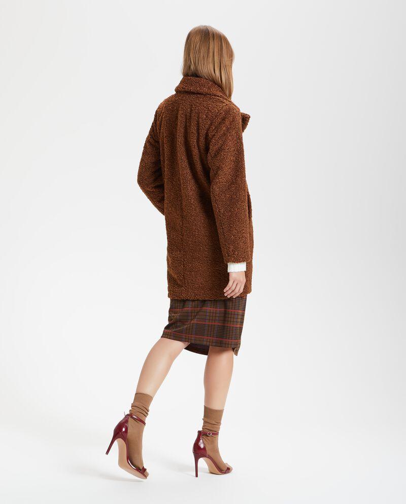 Cappotto con effetto bouclé donna