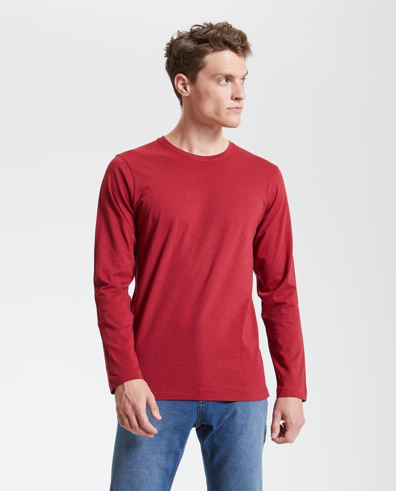 Maglietta uomo maniche lunghe in puro cotone