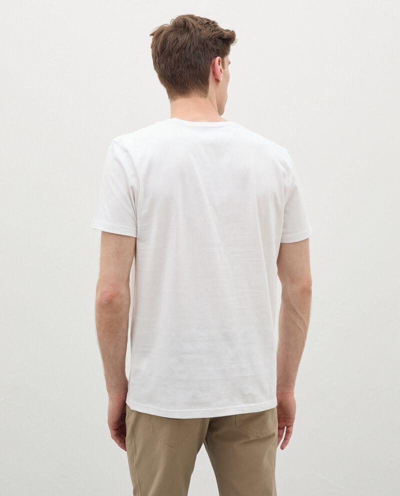 T-shirt in cotone organico con stampa uomo single tile 1