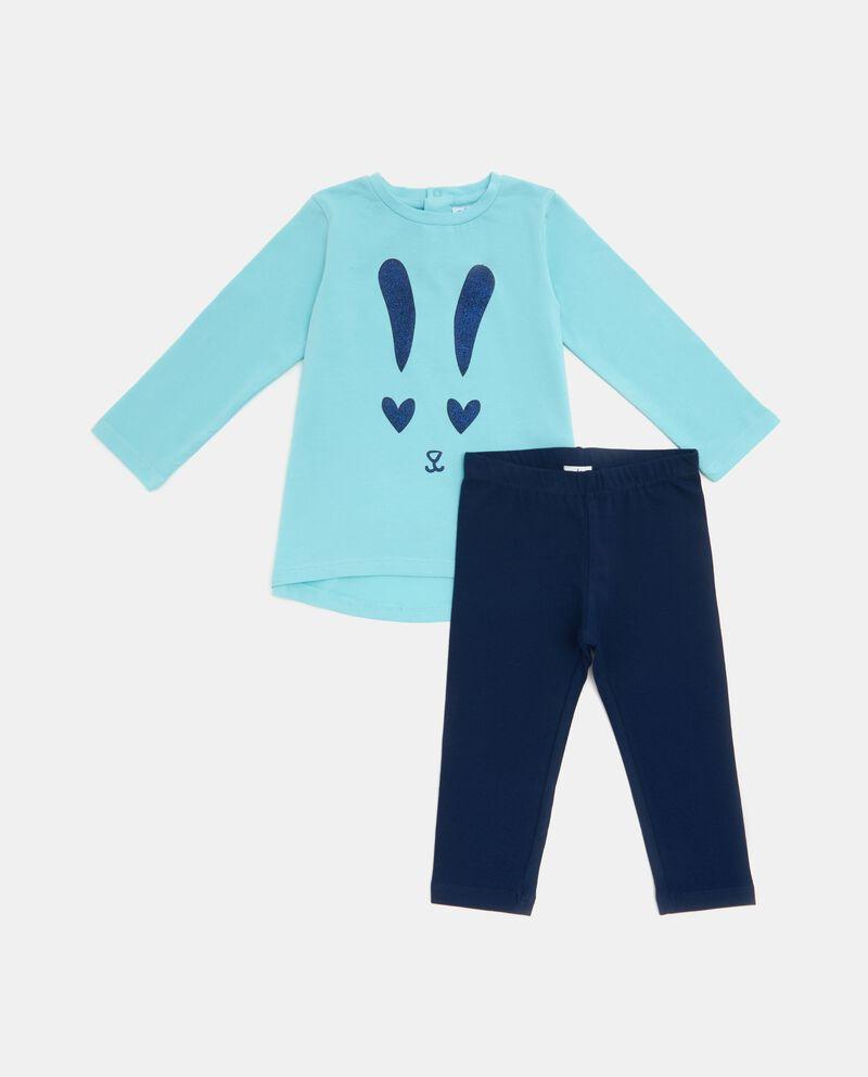 Set jogging t-shirt disegno e leggings neonata