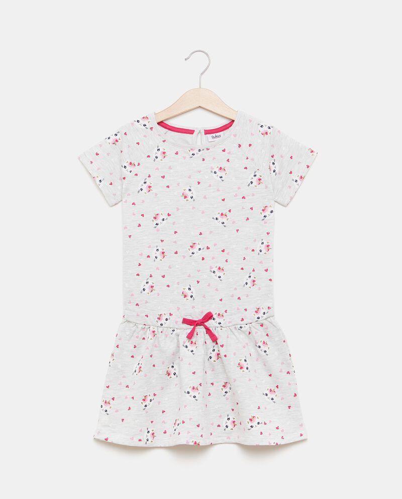 Vestitino in fantasia di cotone biologico bambina