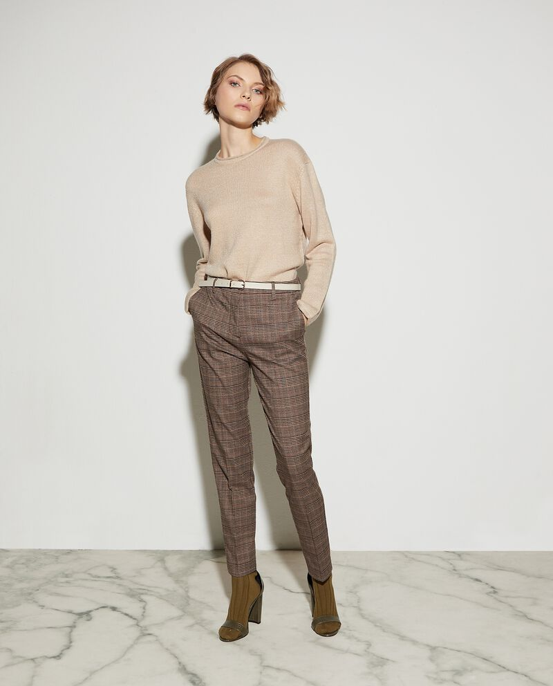 Pantaloni con motivo a quadri donna
