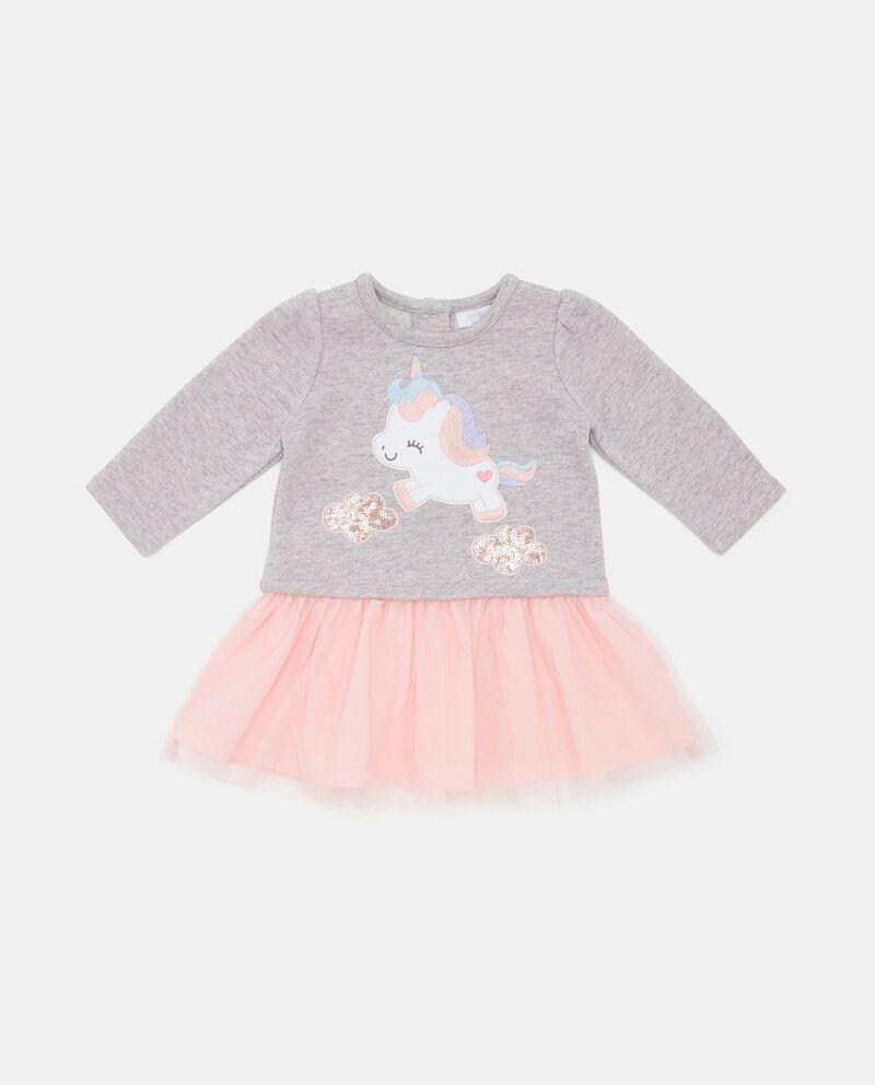 Vestito con fondo in tulle neonata