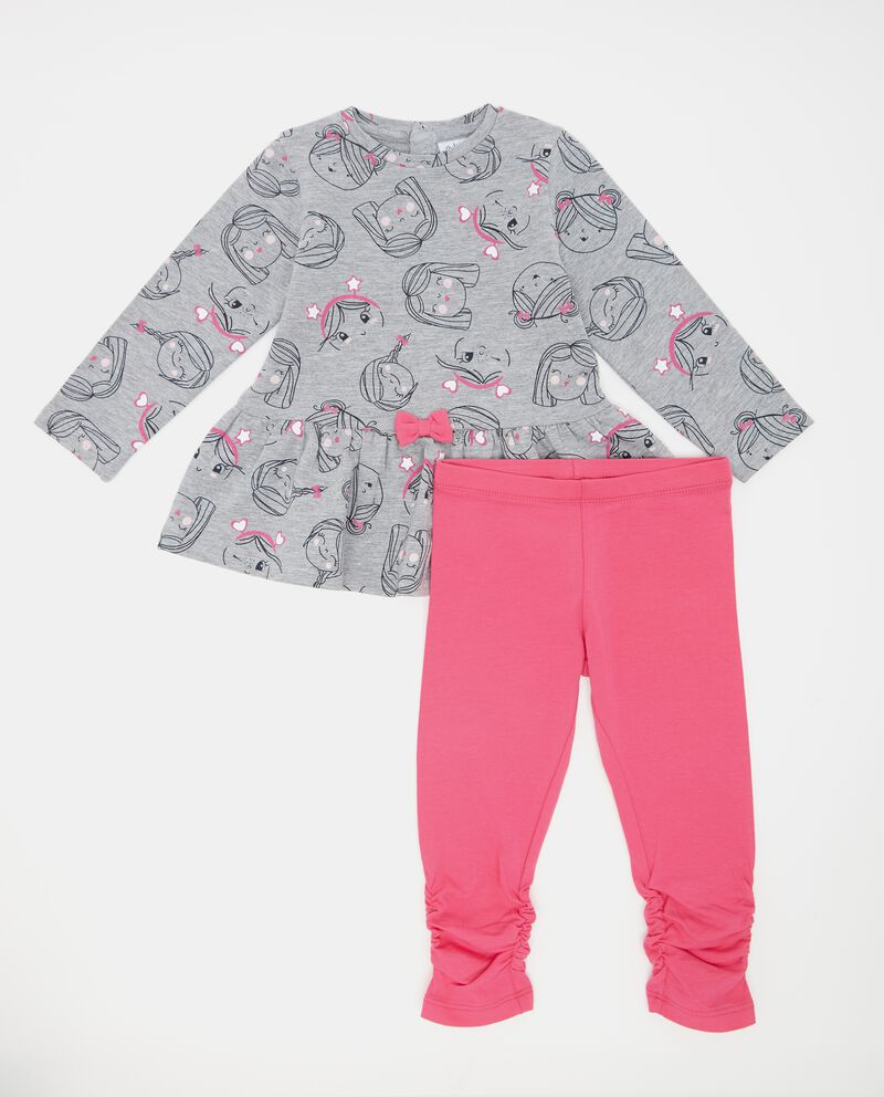 Set t-shirt fantasia e leggings neonata