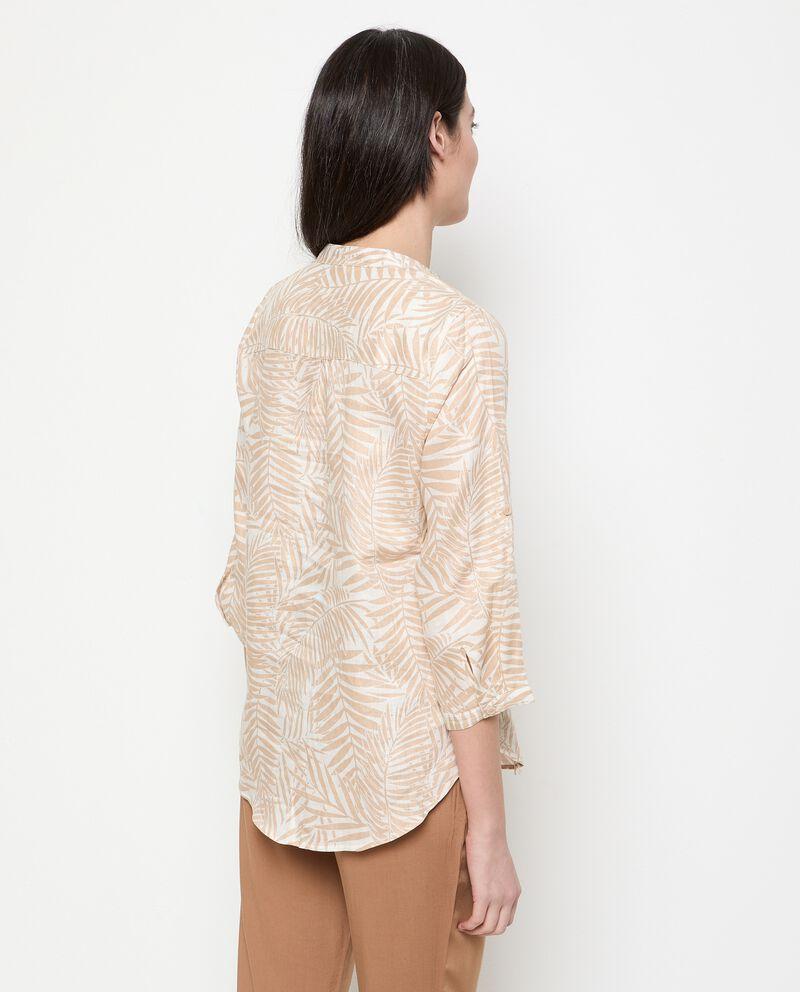 Camicia stampata in puro lino donna single tile 1